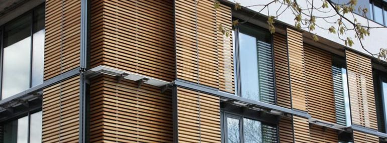 Sliding shutters with wooden panel